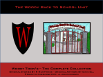 The Woody Back to School Unit
